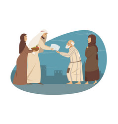 family love holiday islam parenthood eid al vector image