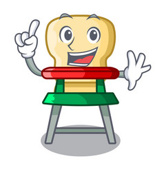 Finger baby highchair isolated on the mascot vector