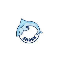 fish shark logo design vector image