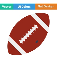 Flat design icon of American football ball vector image