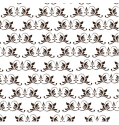 flourishes decoration frame scroll image vector image