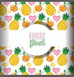Fruit pixel background vector