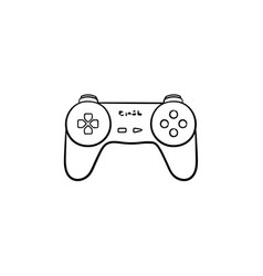 game joystick hand drawn outline doodle icon vector image