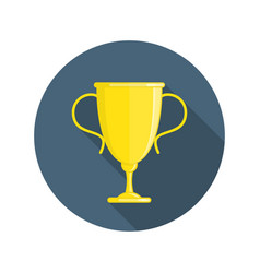 Gold cup icon vector