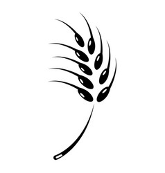 grainy wheat icon simple style vector image