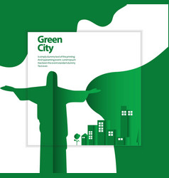 Green city template design vector
