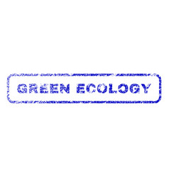 Green ecology rubber stamp vector