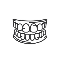 human teeth icon vector image