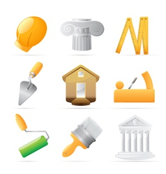 Icons for construction vector image