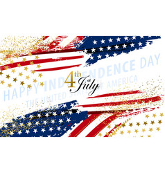 independence day waving flags vector image