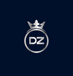 initial letter dz logo template design vector image