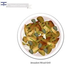 Jerusalem Mixed Grill One of Israel Popular Dish vector