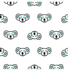 koala bear heads funny seamless pattern in vector image