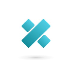 letter x percent logo icon design template vector image