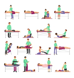 Massage Icons Set vector