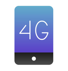 mobile phone with 4g flat icon 4g smartphone vector image