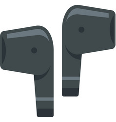 mobile wireless earbuds icon flat isolated vector image