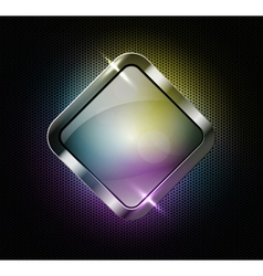 Multicolor glass banner vector image