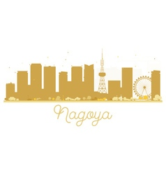 Nagoya City skyline golden silhouette vector image