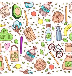 No plastic zero waste eco lifestyle vector