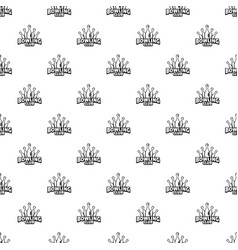 old bowling pattern seamless vector image