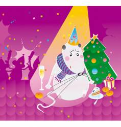 party mouse vector image