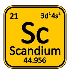Periodic table element scandium icon vector