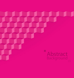 pink love abstract background square 3d modern vector image