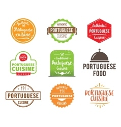 Portuguese cuisine label vector image