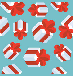 present gift box seamless pattern suitable vector image