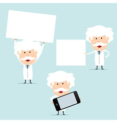 Professor show blank board for use in advertising vector image