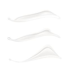 realistic splash of milk or cream on white vector image