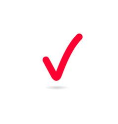 Red tick check mark tick symbol icon sign vector