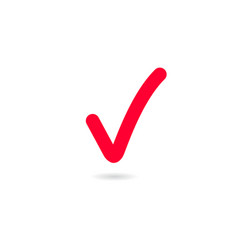 red tick red check mark tick symbol icon sign in vector image