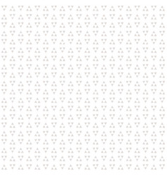 seamless triangles background pattern in white vector image