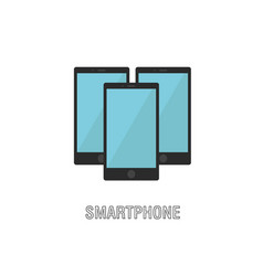smartphones isolated flat design vector image