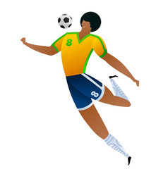 Soccer player colored set vector