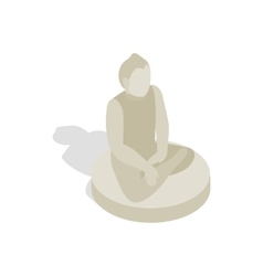 Statue of buddha icon isometric 3d style vector