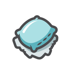 street pillow homeless bed icon cartoon vector image