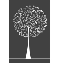 stylised tree vector image