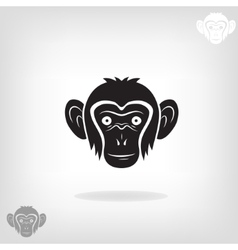 stylized head a monkey vector image