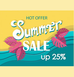 summer sale banner signboard decor for the store vector image