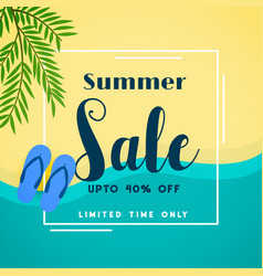 Summer sale top beach banner vector
