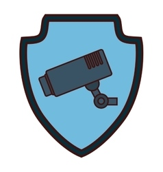 Surveillance camera icon image vector