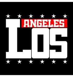 T shirt typography Los Angeles CA stars vector image