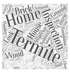 Termite Inspection Exterior Word Cloud Concept vector image