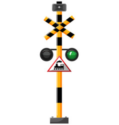 Traffic lights for train vector