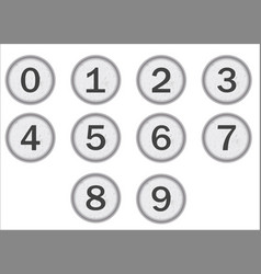 Typewriter keys numbers vector