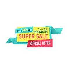 Up to 50 off super sale offer vector