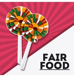 Candy fair food snack carnival icon vector